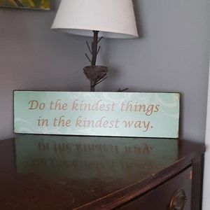 "Metal sign 19""x5"" wall decor"